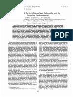 Survival of Escherichia Coli and Salmonella Spp. In