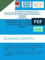 LA PLATAFORMA DE TRABAJADORES Y TRABAJADORAS AUTOEMPLEADOS -PTTA