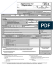 Application One-time Taxpayer Philippine BIR Form No. 1904
