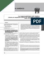 .Responsabilidad Civil Medica Criterios de Imputacion y Un Dilema Sobre Su Contractualizacion