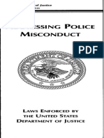 US DOJ ADDRESSING POLICE MISCONDUCT