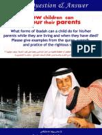 How children can honour their parents