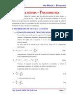 9. Teoria de Aire Humedo - Psicrometria - 2014 - i