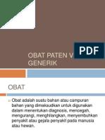 Obat Paten vs Obat Generik