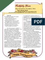 November 2014 Newsletter for Print