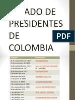 Listado de Presidentes