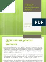 Trabajo de Lenguaje Géneros Literarios Denisse Nicol