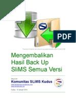Manual RebackUp SLiMS Mengembalikan Hasil Backup SLiMS