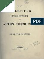 WACHSMUTH, C. - Einleitung in Das Studium Der Alten Geschichte