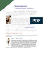 Ejercicios en casa para bajar de peso pdf