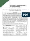 Isolation and characterization of Pseudomonas resistant to heavy metals contaminants