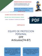 EPP, IPERC, SALUD OCUPACIONAL, CODIGO DE COLORES- REGLAMENTO 055-2010-EM- ART(74 -119)