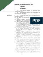 Uttarakhand Motor Vehicles Rule 2011 (ENglish)
