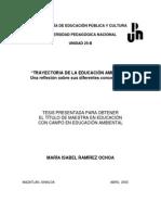 TRAYECTORIA DE LA EDUCACIÓN AMBIENTAL. Una reflexión sobre sus diferentes concepciones