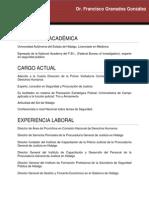 CV Francisco Granados González