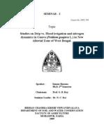 Studies on Drip vs Flood Irrigation and Nitrogen Dynamics in Guava