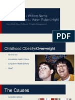 Childhood Obesity/Overweight Case Study Presentation