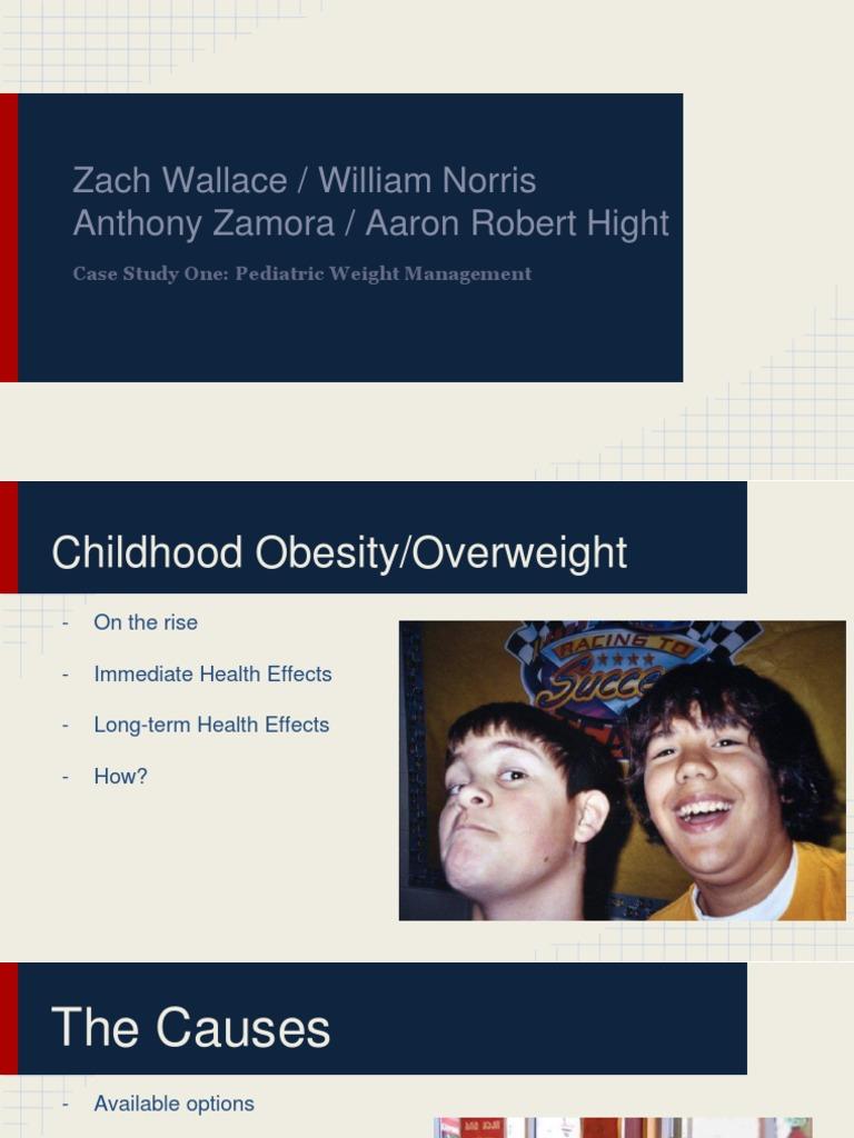 Childhood Obesity/Overweight Case Study Presentation