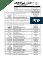 Kalender Akademik Tahun Ajaran 2015
