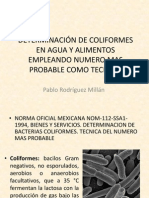 Determinacion de Coliformes
