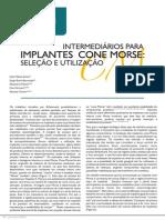 141041581 Artigo 02 Intermediarios Para Implantes Cone Morse Selecao e Utilizacao