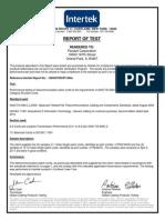 5. ETL Intertek Certificate for UTP6A Patch Cords