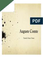 Unidad 6 Auguste Comte - Exposición Daniela Gómez Gómez - Saber Social UPB