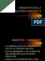 CLASE N° 03 OBJETIVOS DE LA INVESTIGACIÓN