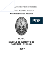 MC585CalculodeElementodeMaquinasI