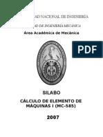 MC585CalculodeElementodeMaquinasI