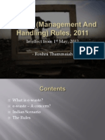 E-waste (Management and Handling) Rules, 2011 Ppt