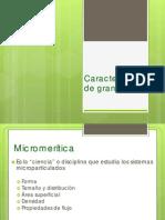 Caracterización de Granulados