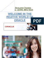 Oracle developer training