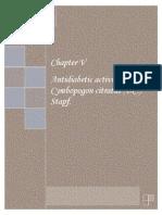 Antidiabetic Activity of C Citratus