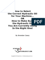 Guide to Selecting Hydraulic Fluid