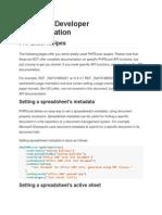 PHPExcel Developer Documentation