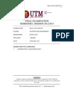 Sem 1 2012-2013 (January) Ska 2922 Set A