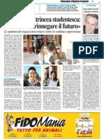 Pesaro Studi, trincea studentesca