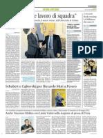 """""""Innovazione e lavoro di squadra"""" - Il Corriere Adriatico del 4 novembre 2014"""