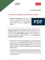 Puntos de Vista 22-12-2009 (Acuerdo Ue - cos Rajoy Miente Con El Tomate)