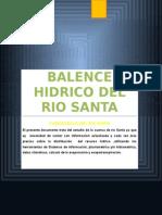 Balance Hídrico de La Cuenca Del Río Santa Luis
