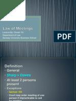 9.Law of Meetings