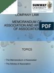 6. Memorandum and Articles of Association(1)