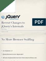 Recent Changes to jQuery's Internals