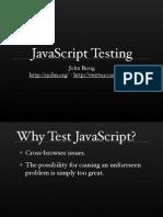Understanding JavaScript Testing