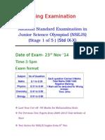 Std IX-X  IJSO Stage 1 (NSEJS)  Exam Pattern