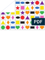 Colour and Shape Bingo