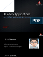 Desktop Applications using HTML and JavaScript (and Python and Ruby)