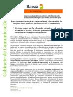 NOTA Prensa Baeza - Acto Centenario