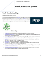 Top 50 Biotechnology Blogs - The BioBlogging Project